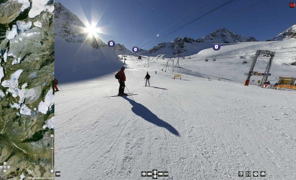 Тур по леднику с картой Google — Альпы